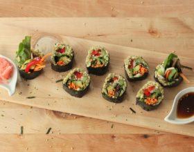 Sushi vegano para embarazadas