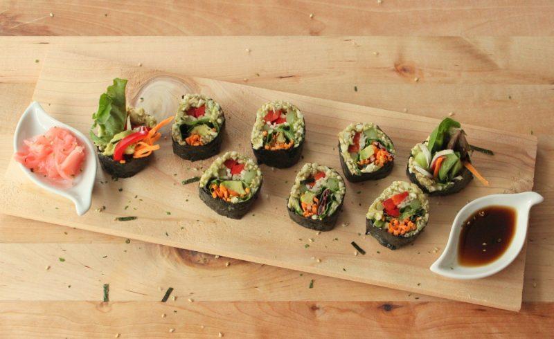 sushi vegano - fruteria de valencia